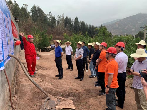 谢安军一行赴院西昌市经久乡森林火灾灾后地质灾害应急工程项目现场调研